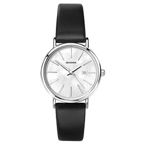 Sekonda Ladies' Black Leather Strap Watch - Product number 8602204