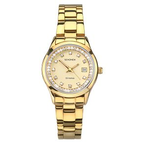 Sekonda Ladies' Gold Plated Stainless Steel Bracelet Watch - Product number 8602298