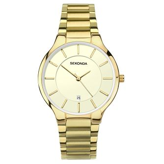 Sekonda Men's Gold Plated Stainless Steel Bracelet Watch - Product number 8602417