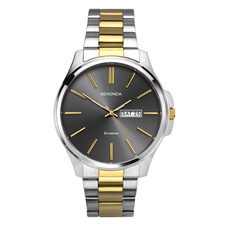 Sekonda Men's Two Tone Stainless Steel Bracelet Watch - Product number 8602476