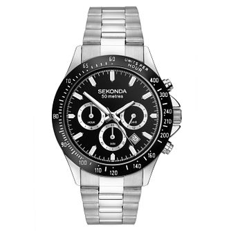 Sekonda Men's Dual Time Stainless Steel Bracelet Watch - Product number 8602506