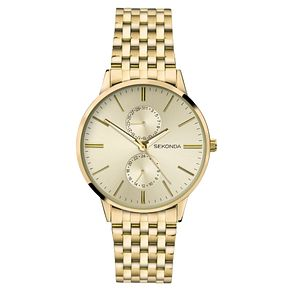 Sekonda Men's Gold Plated Stainless Steel Bracelet Watch - Product number 8602549