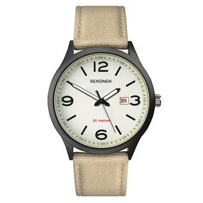 Sekonda Men's Beige Nylon Strap Watch - Product number 8602565