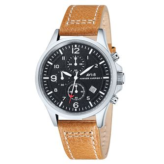 AVI-8 Men's Hawker Harrier II Tan Leather Strap Watch - Product number 8602808
