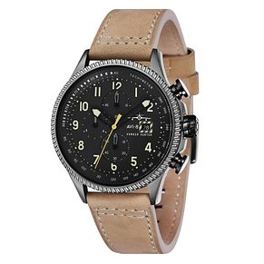 AVI-8 Men's Hawker Hunter Cream Leather Strap Watch - Product number 8602859