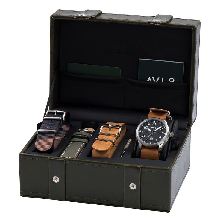 AVI-8 Men's Flyboy Gift Set Multi Strap Watch - Product number 8602921