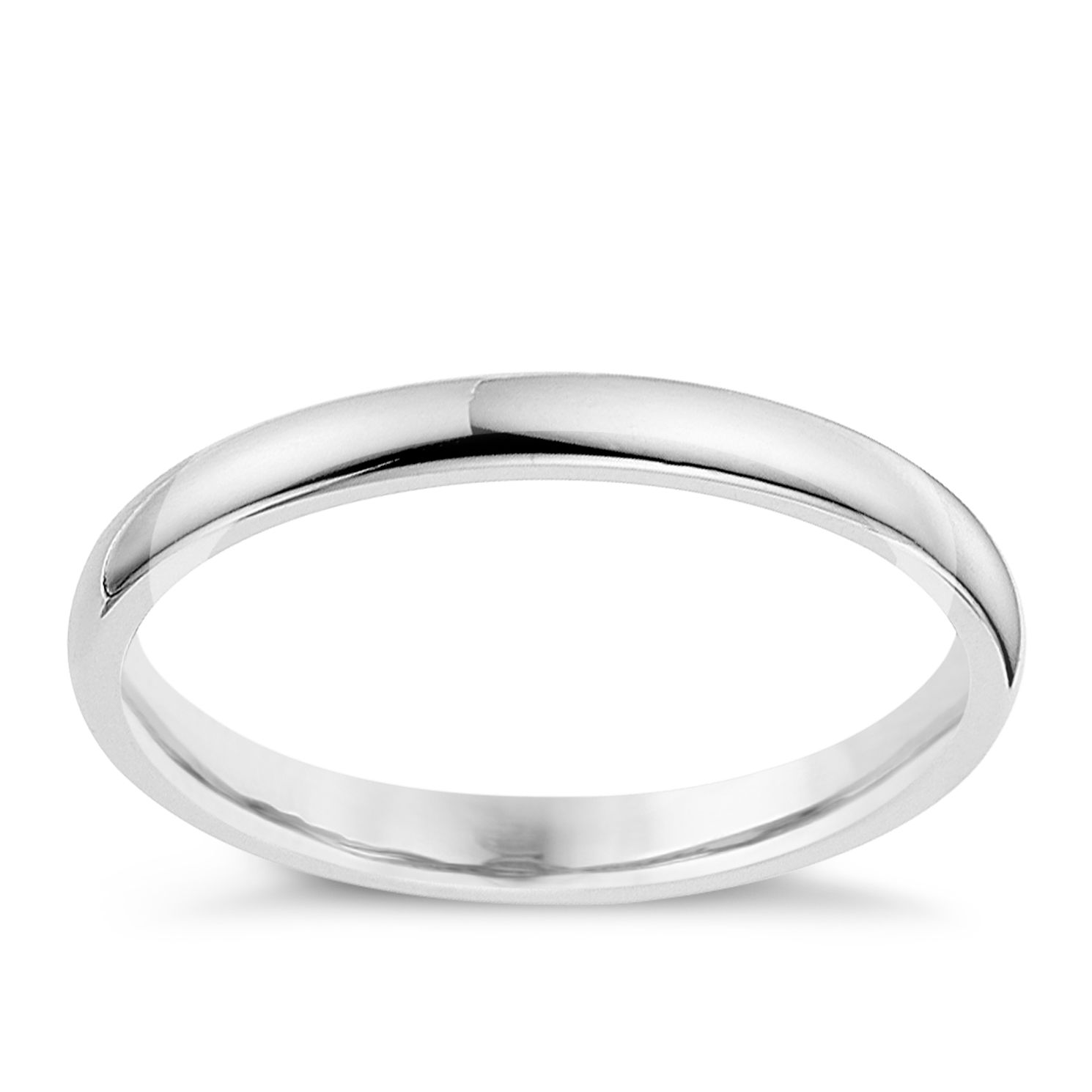 9ct White Gold 2mm Extra Heavyweight Wedding Ring   Product Number 8603235
