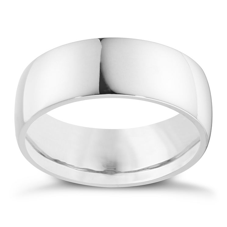 Palladium 950 8mm super heavy court ring - Product number 8603820