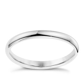 9ct white gold 2mm super heavyweight wedding ring - Product number 8606838