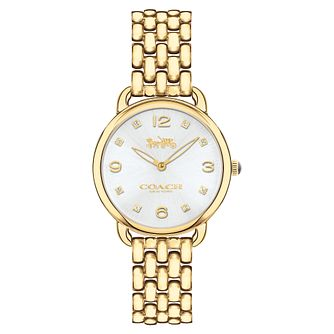 Coach Delancey Ladies' Yellow Gold Tone Bracelet Watch - Product number 8609454