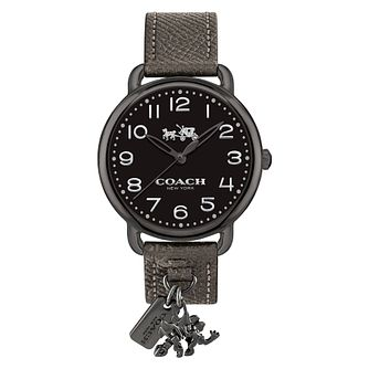 Coach Charm Ladies' Ion Plated Black Strap Watch - Product number 8609543