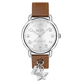 Coach Charm Ladies' Stainless Steel Red Strap Watch - Product number 8609551