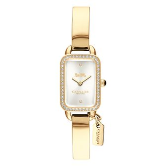 Coach Ludlow Ladies' Yellow Gold Tone Stone Set Watch - Product number 8609594