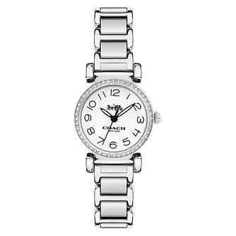Coach Madison Ladies' Stainless Steel Stone Set Watch - Product number 8609675