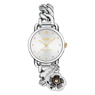 Coach Tea Rose Ladies' Stainless Steel Bracelet Watch - Product number 8609748