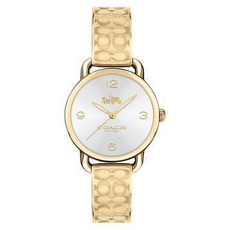 Coach Signature Ladies' Yellow Gold Tone Bracelet Watch - Product number 8609799