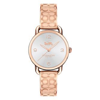 Coach Signature Ladies' Rose Gold Tone Bracelet Watch - Product number 8609802