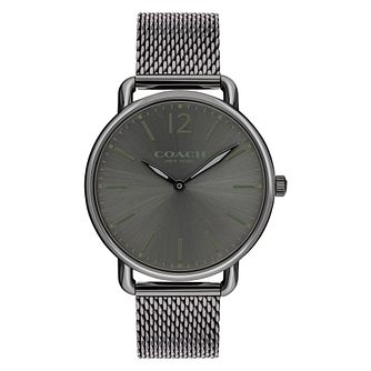 Coach Delancey Men's Grey Ion Plated Bracelet Watch - Product number 8609896