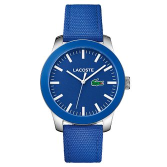Lacoste Men's Blue Nylon Strap Watch - Product number 8610576
