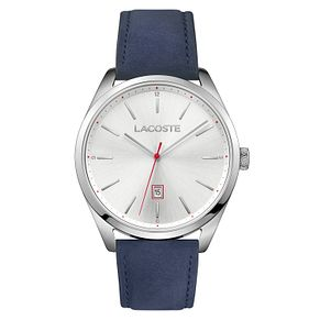 Lacoste Men's Blue Leather Strap Watch - Product number 8610592