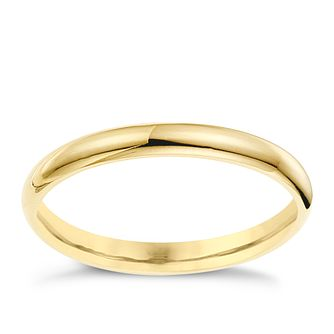 9ct yellow gold 2mm super heavyweight court ring product number 8613001 - Rings Wedding