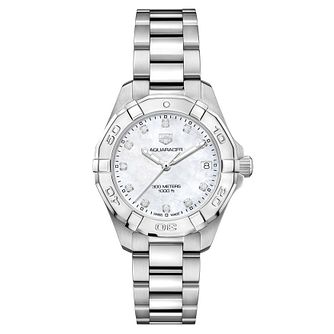 TAG Heuer Aquaracer Ladies' Mother of Pearl Diamond Watch - Product number 8617295