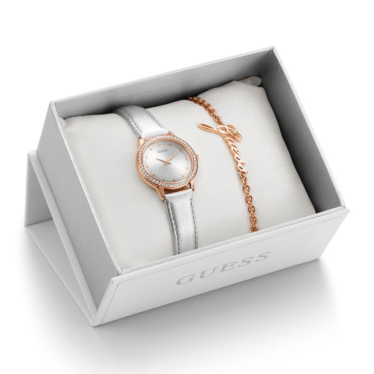 Guess Ladies' Watch & Bracelet Gift Set - Product number 8617309