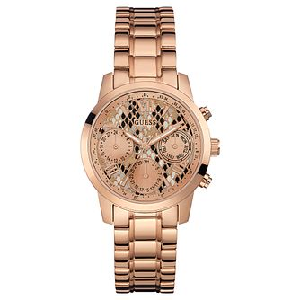Guess Ladies' Rose Gold Bracelet Watch - Product number 8617317