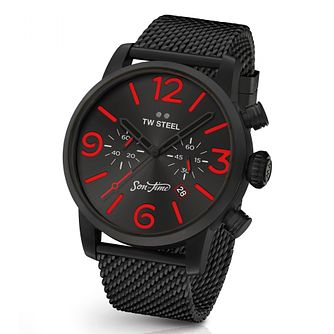 TW Steel Son of Time Men's Black Ion Plated Bracelet Watch - Product number 8619670