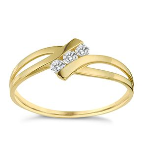 9ct Yellow Gold Cubic Zirconia Ring - Product number 8628742