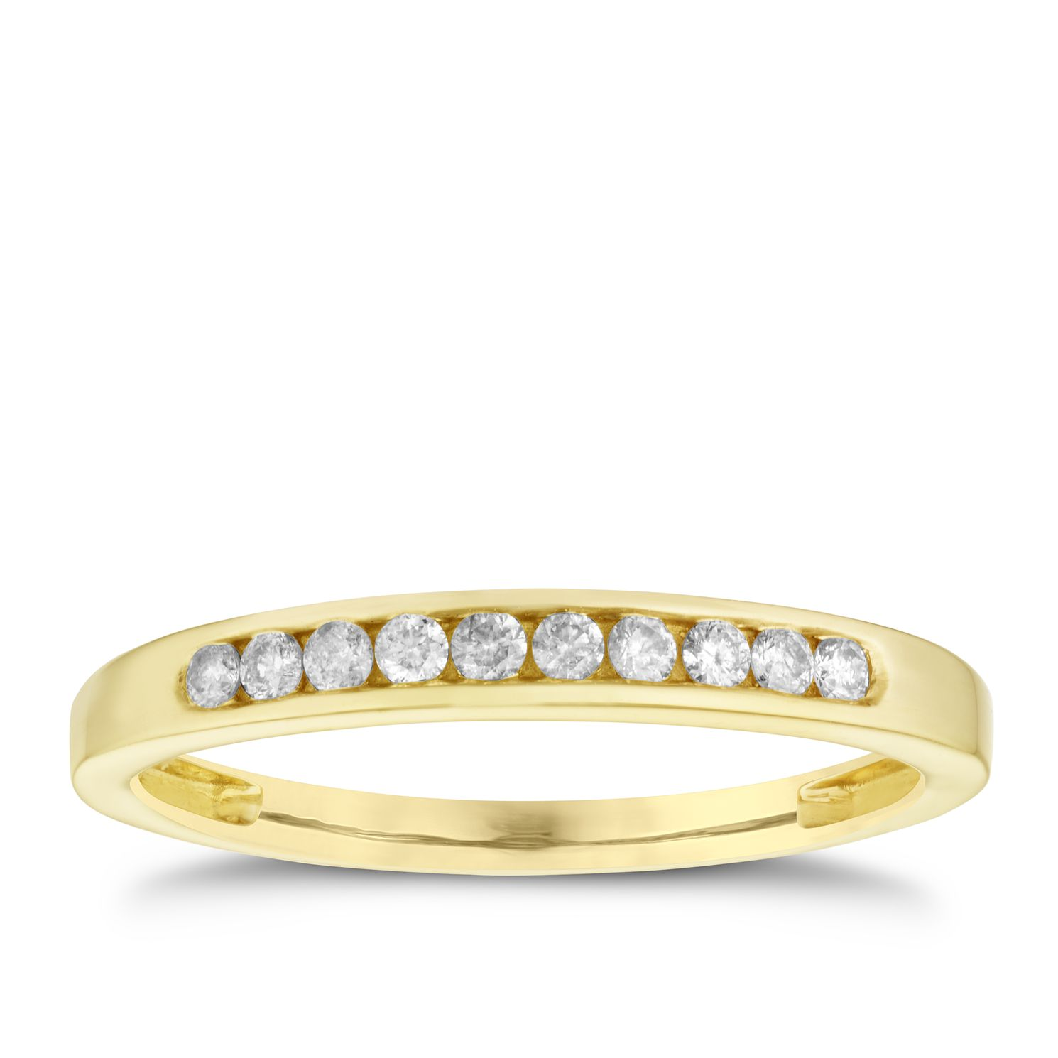9ct yellow gold diamond eternity ring Ernest Jones