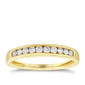 9ct yellow gold 1/4ct diamond ring - Product number 8650829