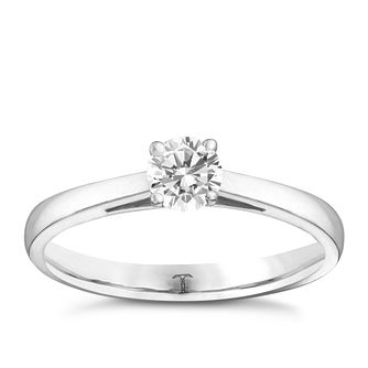 Tolkowsky 18ct white gold 0.33ct HI-VS2 diamond ring - Product number 8657750