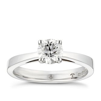 Tolkowsky 18ct white gold 0.66ct HI-VS2 diamond ring - Product number 8658013