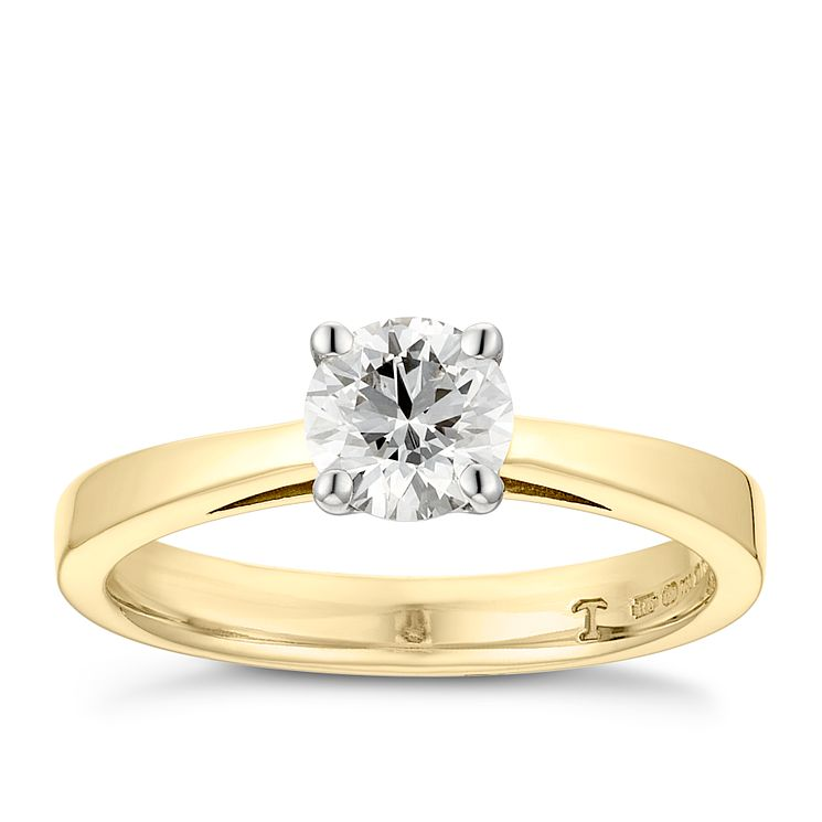 Tolkowsky 18ct yellow gold 0.66ct HI-VS2 diamond ring - Product number 8658811