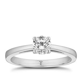 Tolkowsky platinum 1/2ct HI-VS2 diamond ring - Product number 8659516