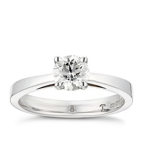 Tolkowsky platinum 2/3ct HI-VS2 diamond ring - Product number 8659648