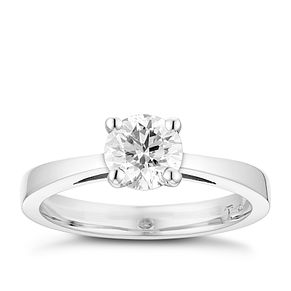 Tolkowsky platinum 1.00ct HI-VS2 diamond ring - Product number 8659907