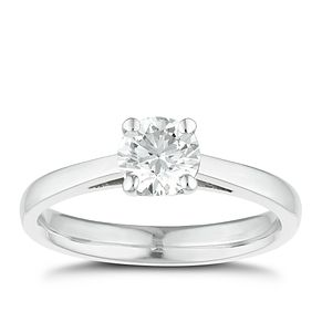 Tolkowsky 18ct white gold 3/4ct I-I1 diamond ring - Product number 8660565