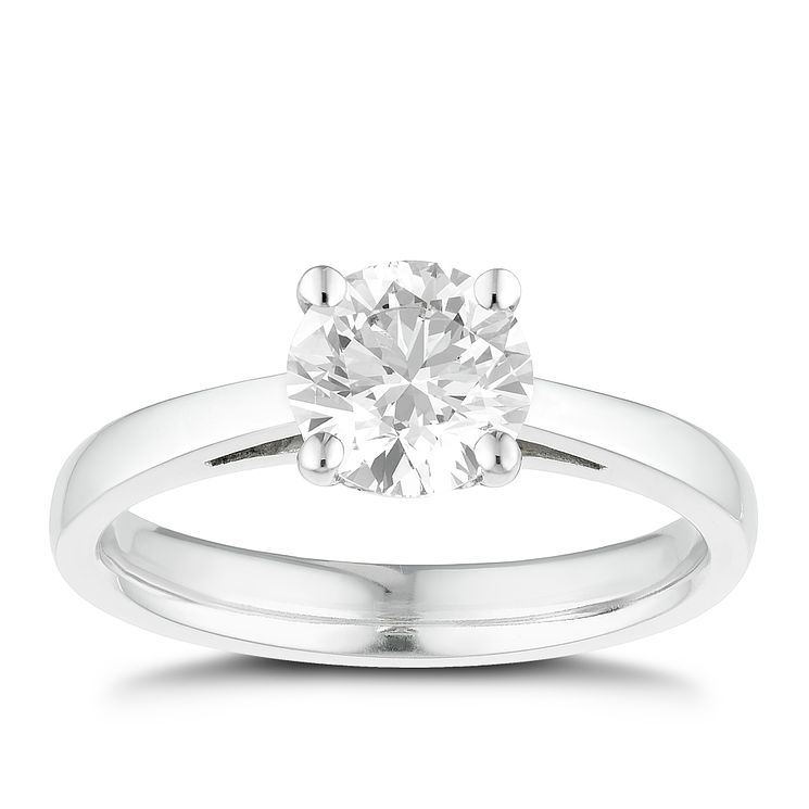 Tolkowsky 18ct white gold 1.00ct I-I1 diamond ring - Product number 8660719