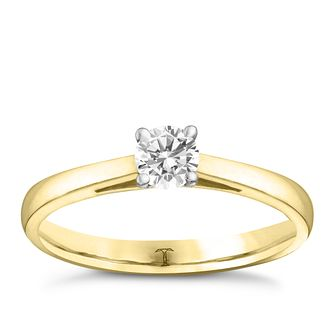 Tolkowsky 18ct yellow gold 0.25ct I-I1 diamond ring - Product number 8660840
