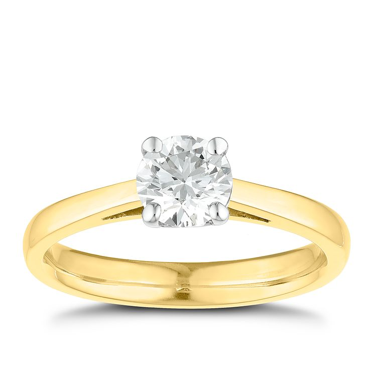 Tolkowsky 18ct yellow gold 0.75ct I-I1 diamond ring - Product number 8661391