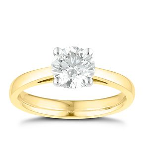 Tolkowsky 18ct yellow gold 1ct I-I1 diamond ring - Product number 8661537