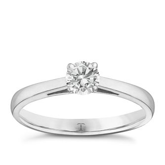 Tolkowsky platinum 1/3ct I-I1 diamond ring - Product number 8661804