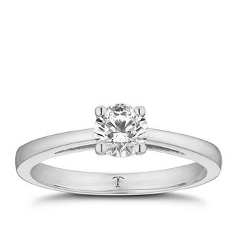 Tolkowsky platinum 1/2ct I-I1 diamond ring - Product number 8661944