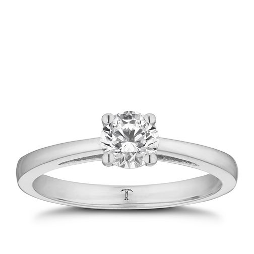 Tolkowsky platinum 0.50ct I-I1 diamond ring - Product number 8661944