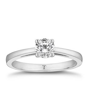 Tolkowsky platinum 2/3ct I-I1 diamond ring - Product number 8662088