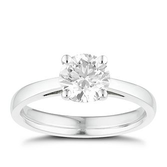 Tolkowsky platinum 1.00ct I-I1 diamond ring - Product number 8662363