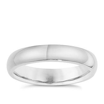 Silver 4mm Super Heavy Court Ring - Product number 8677069