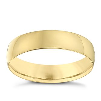 18ct Yellow Gold 5mm Heavy D Shape Ring - Product number 8678162